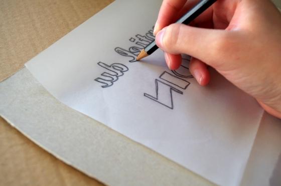 Création d'un pochoir pour personnaliser un tote bag mariage