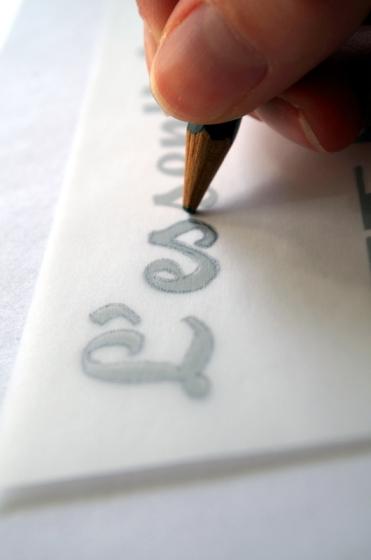 Tutoriel sur la personnalisation d'un tote bag mariage - Etape : créer un pochoir