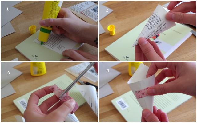 Tutoriel : cornets en papiers fait main pour une cérémonie laïque