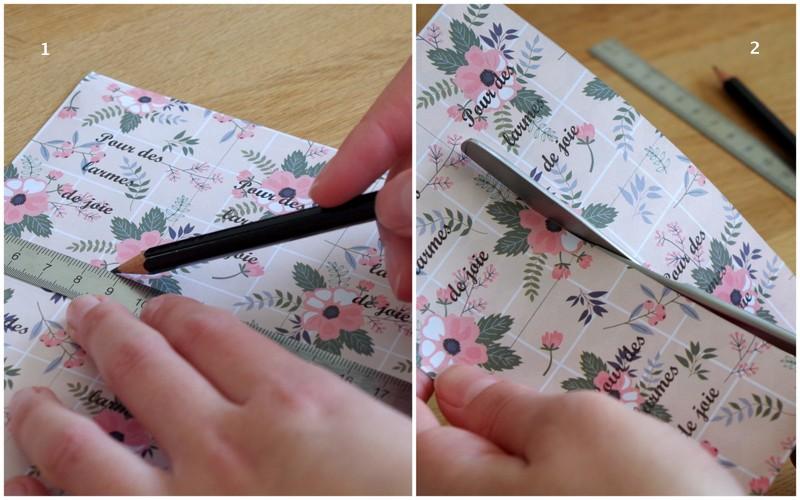 DIY facile pour une cérémonie laïque - création des pochettes à mouchoirs