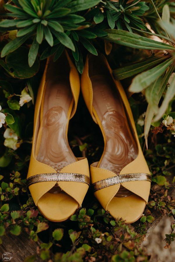 chaussures de mariée jaune