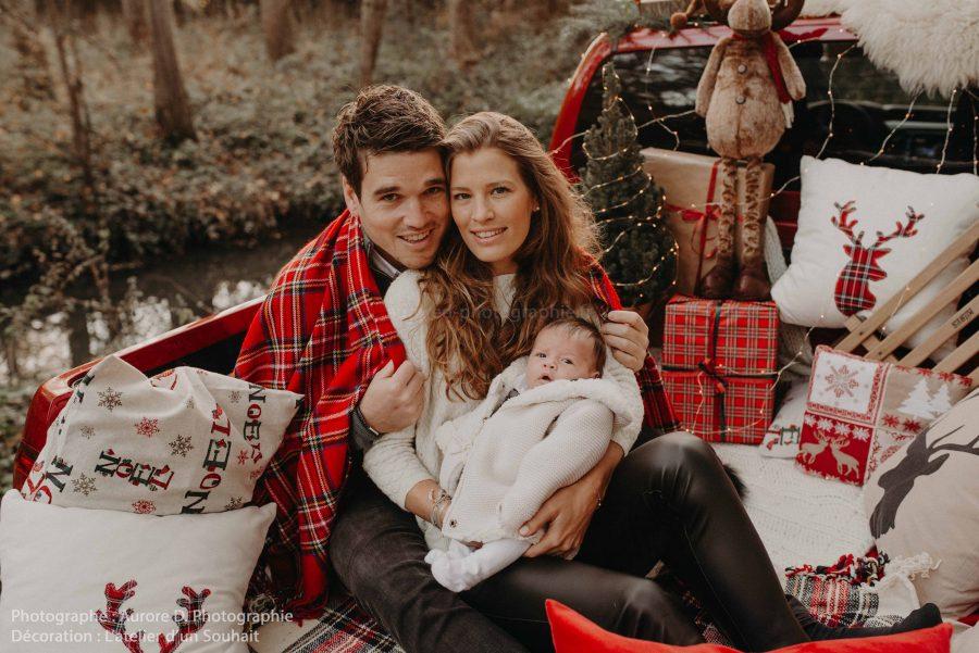 Photographie professionnelle-portrait de famille hiver