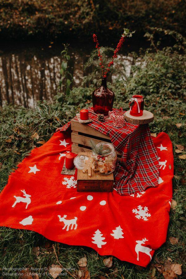 Décoration avec biscuits de Noël