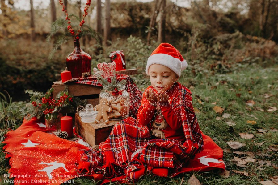 Décoration Christmas avec petit bonhomme en pain d
