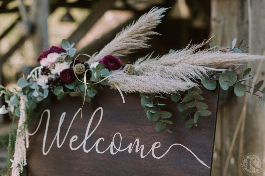 panneau de bienvenue en bois