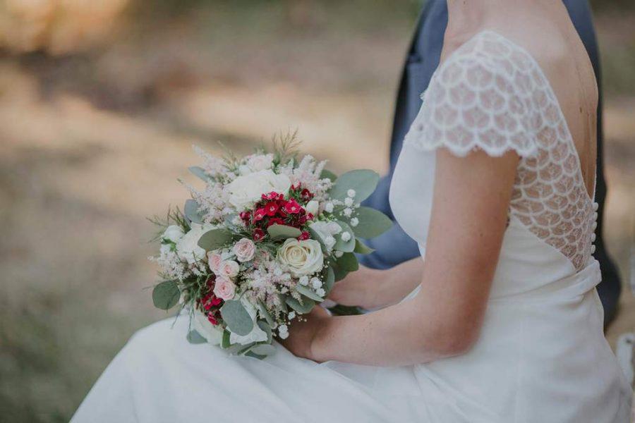 bouquet de mariée - cérémonie laïque Tours
