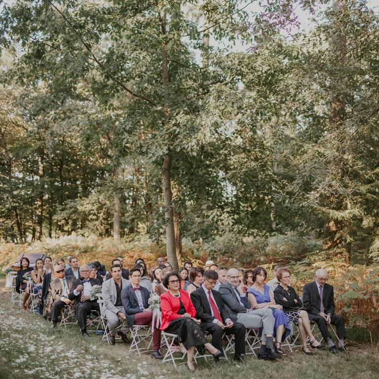 cérémonie laïque en forêt