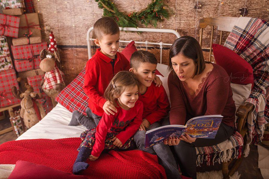 séance photo de Noël en famille sur Tours