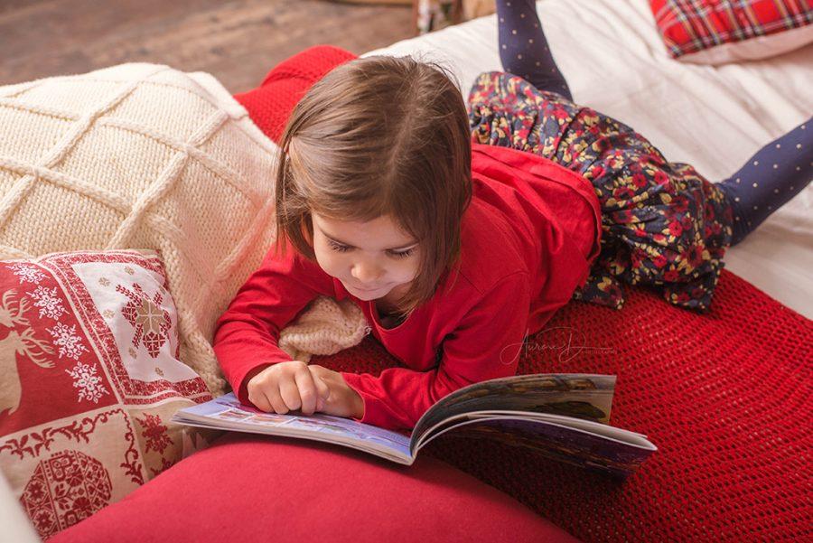 séance photo de Noël enfant sur Tours
