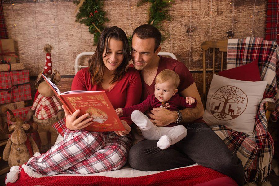 création de décor de séance photo de Noël en famille sur Tours