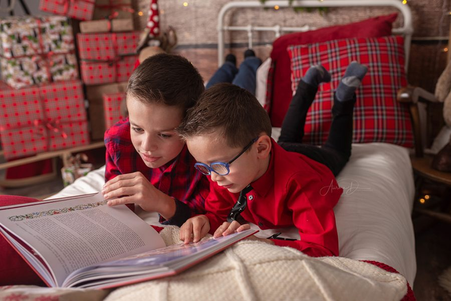 lire un conte de noel en famille