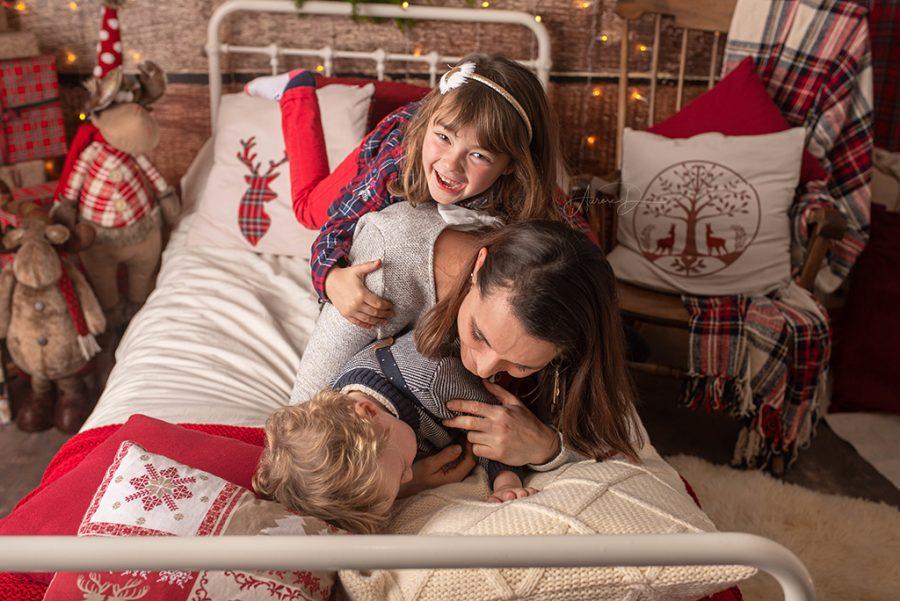 photos de Noël de famille sur Tours