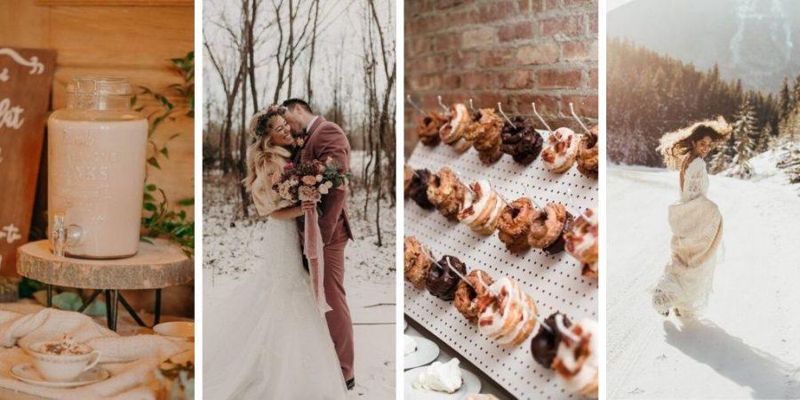 Mariage hivernal : le charme d'une ambiance chaleureuse