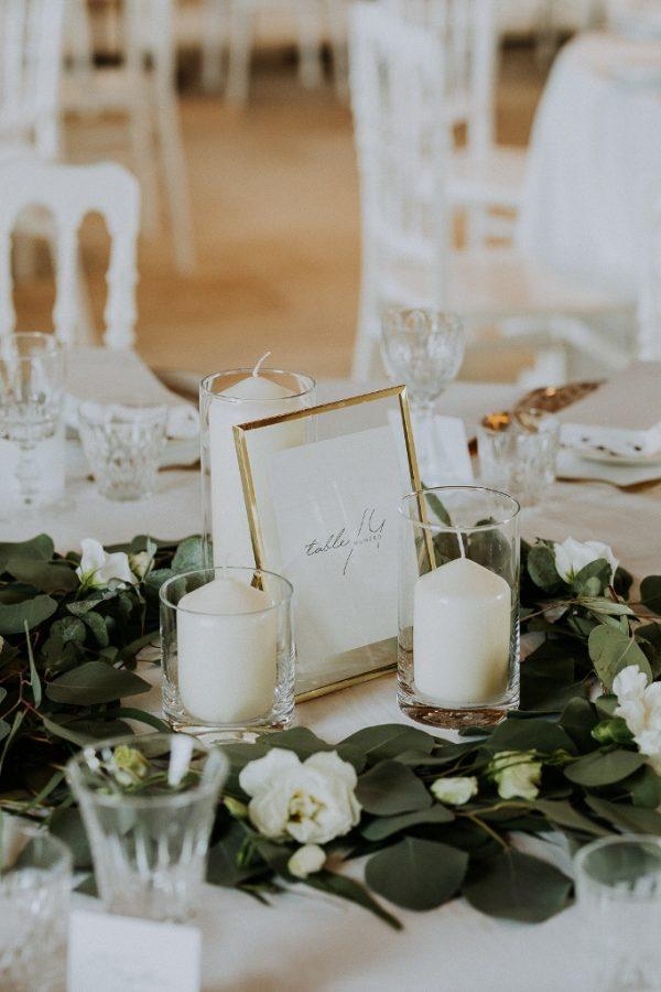 Décoration de mariage élégant
